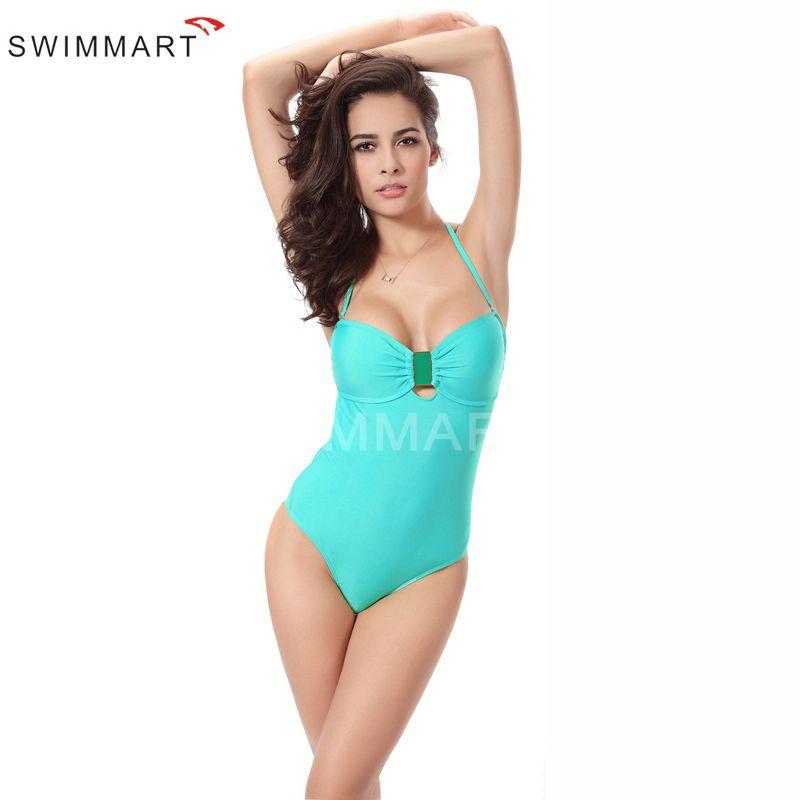 Women's Spaghetti Strap Backless One-Piece Bodysuit Bikini Swimwear Monokini Bathing Suit Swimsuit 2 Colour Option VS008A