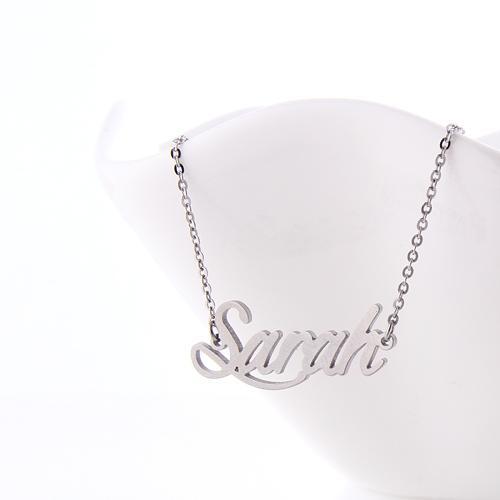 Colar de nome personalizado mulheres colar de placa de identificação personalizado