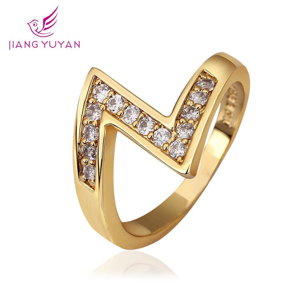 2018 2014 New Korean Jewelry Diamond Ring Type Z 18k Plating Of ...