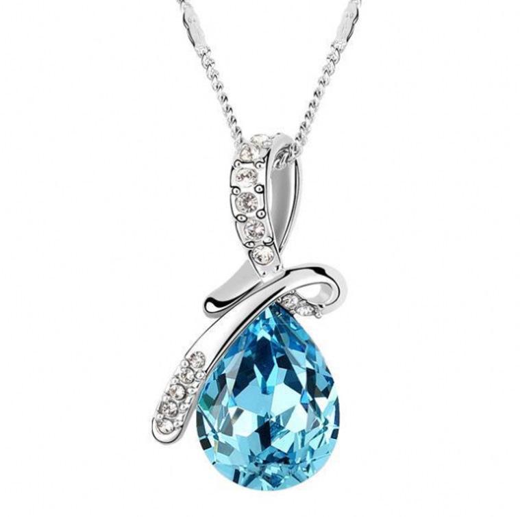 Новая мода ювелирные изделия кулон ожерелья элегантный дизайн акриловый Кристалл заявление ожерелье блогеры женские горный хрусталь цепи Кристалл ожерелья