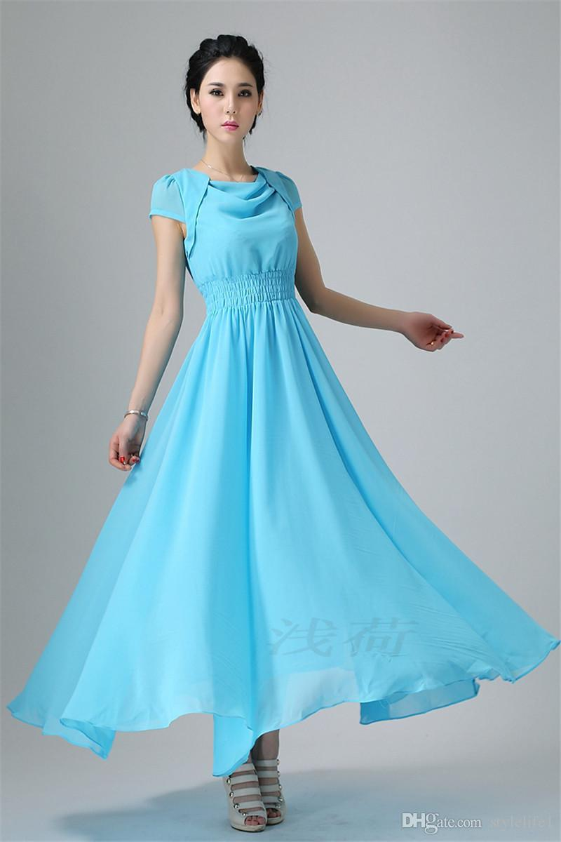 2015 New Chiffon Wedding Bridesmaid Dresses Cocktail Party Fashion ...