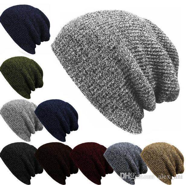 Yeni 8 Renkler Kadınlar At Kuyruğu Caps Örme Beanie Moda kadın ve erkekler Kış Sıcak Şapka Geri Delik Pony Tail Sonbahar Rahat Beanies