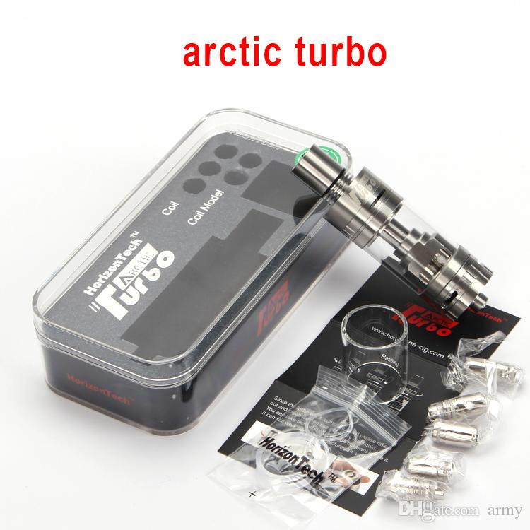Authentic Horizon Arctic Turbo Sub-Ohm Tank 3.5ML Atomizer with Intuitive Sextuple Coil Top Turbine Cooling System RBA Head