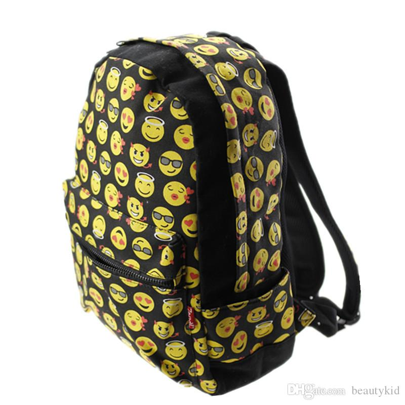 6e2b032155 DHL Hotest Women Canvas Emoji Backpacks Smiley Emoji Face Printing  Schoolbag Cartoon Student Bags For Children Kids Womens EMJ018 Running  Backpack Osprey ...