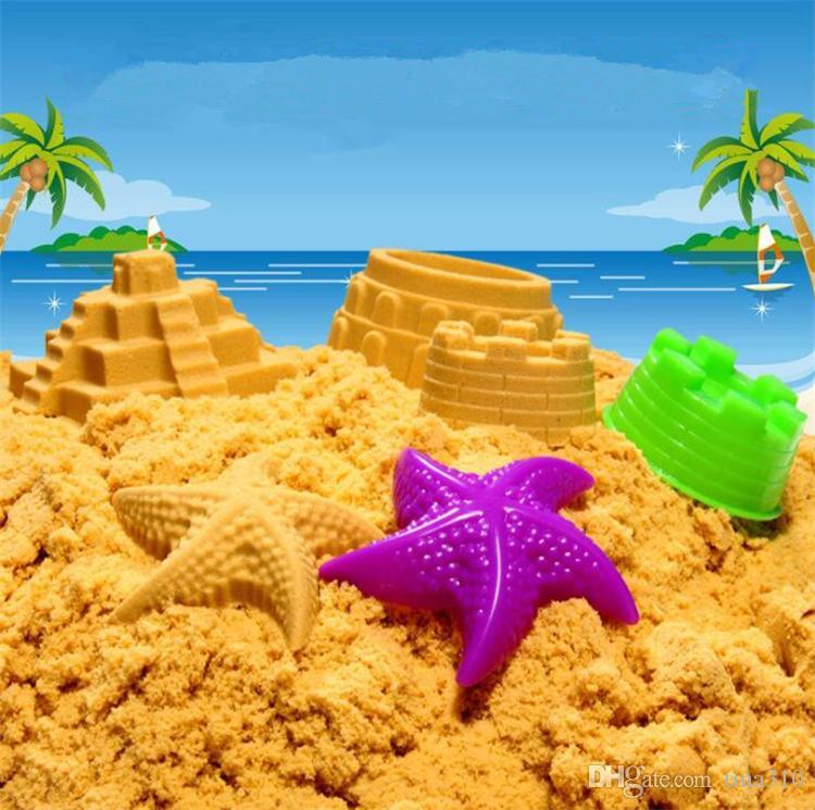 Yeni Hediye Araçları Mavi Sarı Pembe Yeşil Sıcak Satış Dinamik Eğitim İnanılmaz Kapalı Sihirli Oyun Kum Çocuk Oyuncakları 4135-2