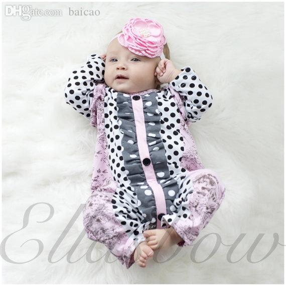 Wholesale-Cotton Ruffle Romper,Ruffle Baby Outfit,baby Girls Sleeper ...
