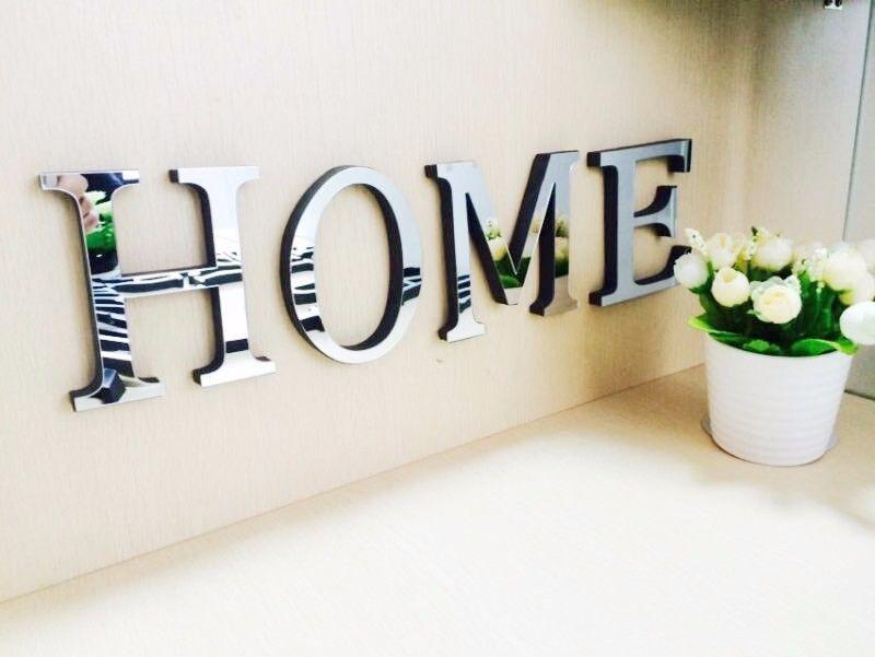 10cmx8cmx1.2 смтолстые DIY свадебные любовные письма украшения дома акриловые 3D зеркало стены стикеры английский алфавит Home Decor для стены