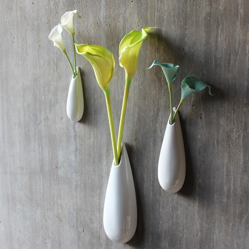 3 adet / paket Seramik çiçek vazolar ev decoraton çiçek saksıları yetiştiricilerinin duvar asılı saksı yüksek kalite