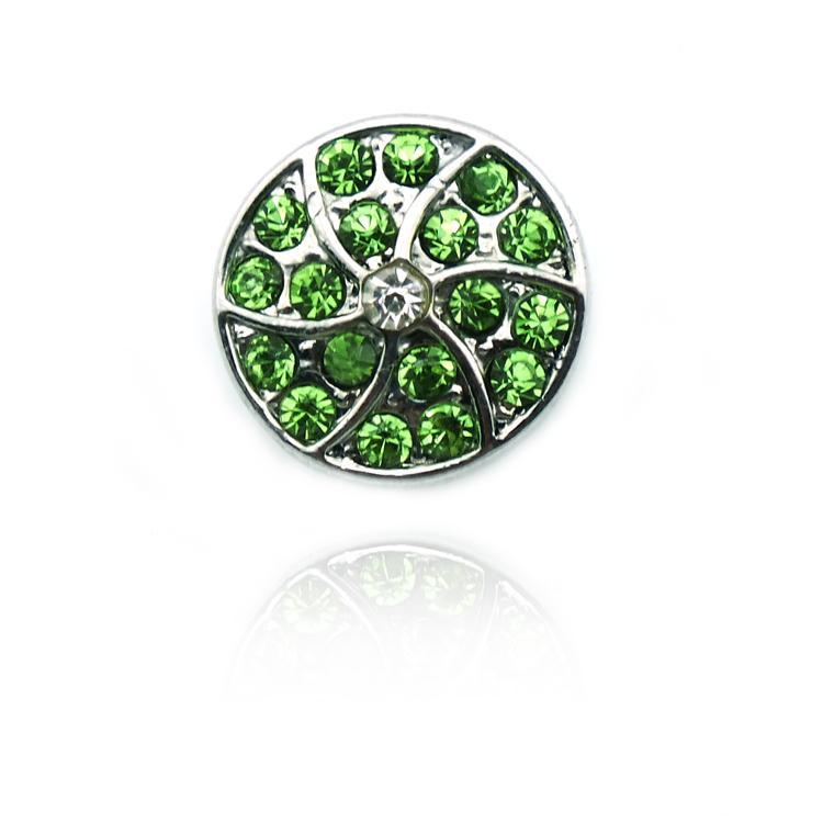 Yeni Moda 12mm Küçük Yapış Düğmeler Iki Renk Rhinestone Çiçek Zencefil Klipsler DIY Noosa Bilezik Takı Aksesuarları