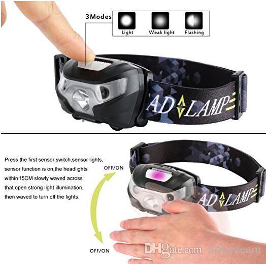 Projecteur LED, capteur de mouvement du corps Projecteur Lampe de poche USB Portabilité rechargeable USB Super Bright pour la lecture en cours, extérieur et extérieur