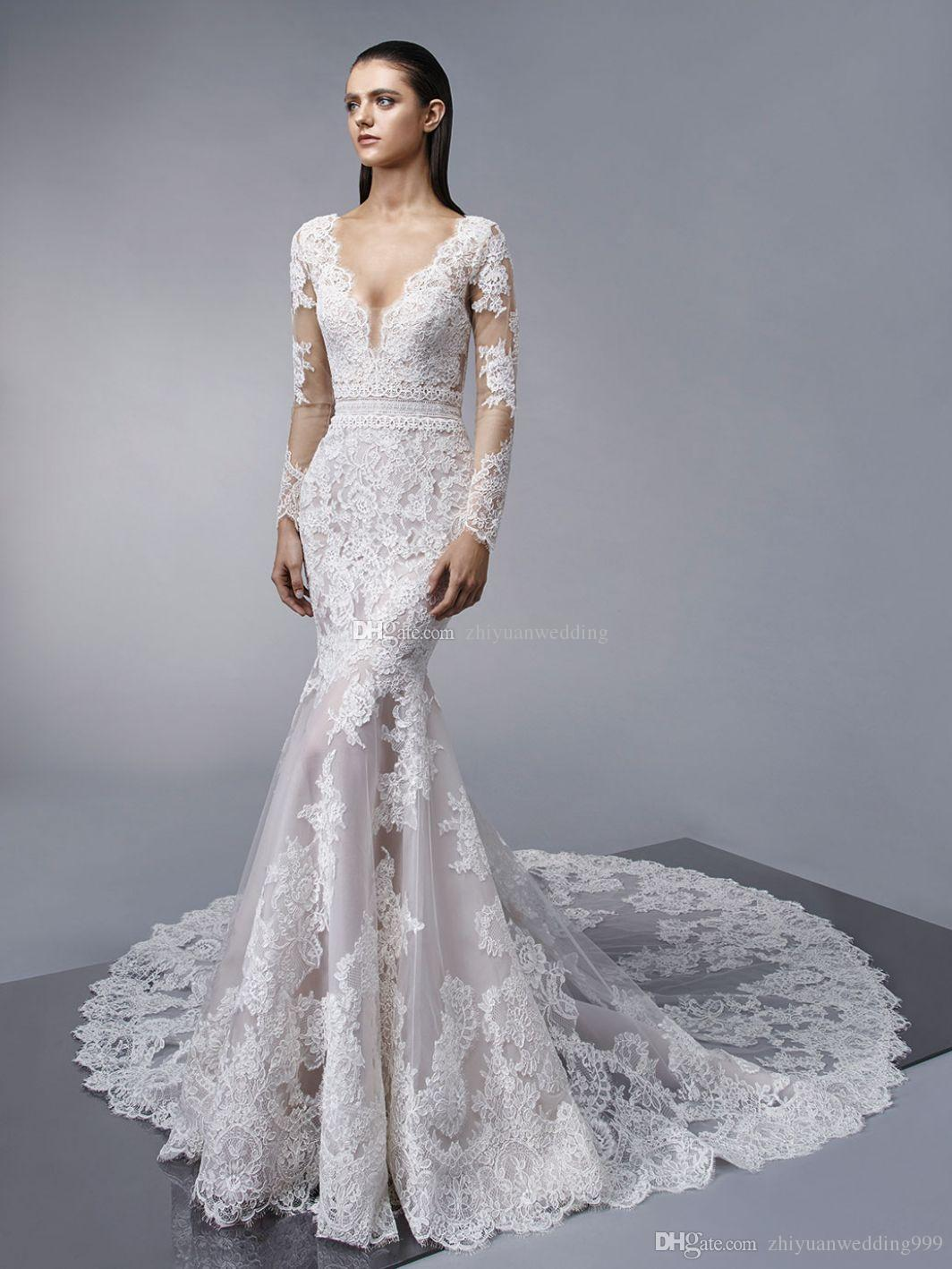 Long Sleeve Couture Wedding Dresses