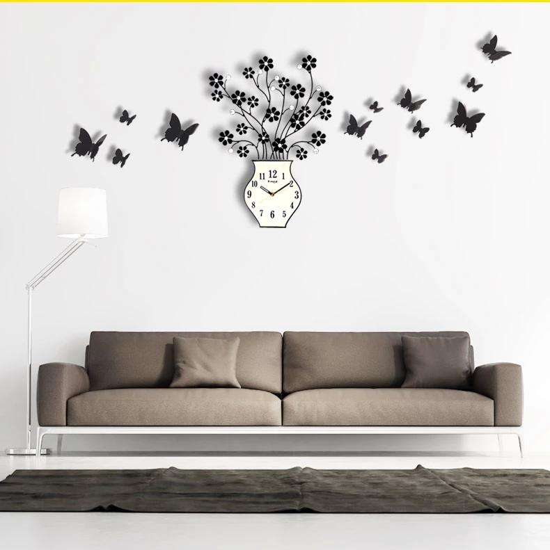 New Arrival Fashion Home Decor Stickers Wall Clock For Living Room Decals Decoration Diy 3d Personalized Big Size Stereo Digital Extra Large