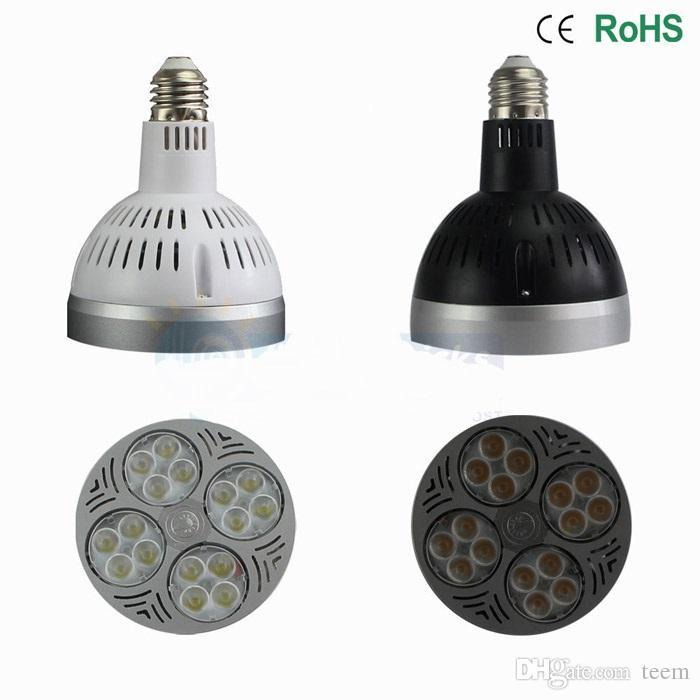 Dhl ce ul led par30 أضواء كري e27 24 واط 35 واط 36 واط أدى لمبات الإضاءة أسفل مصباح 3600lm ac 110-240 فولت أدى النازل الأضواء 100100