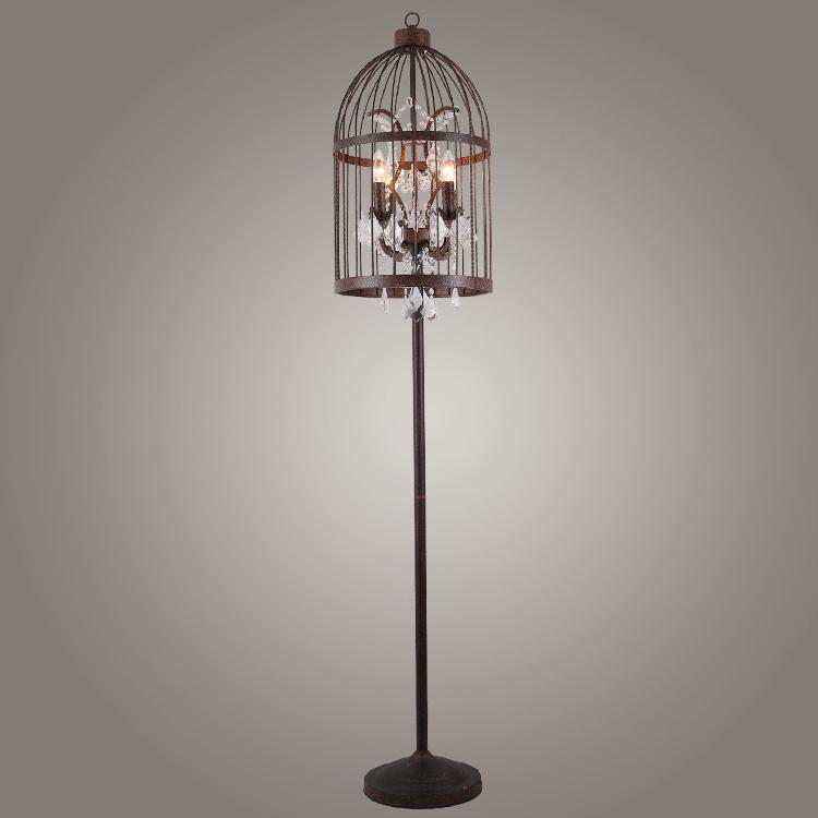 2017 American Style Bird Cage Art Floor Lamp Rustic ...