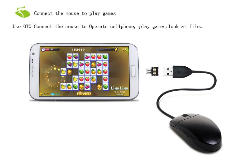 Micro USB OTG adapter Converter turn into Cell phone usb flash drive,U disk/card reader,Connect the KeyBoard,mouse for Samsung HTC Android