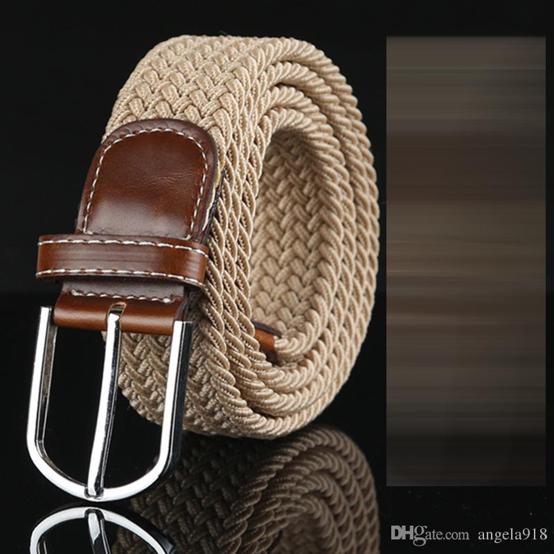 Compre Dhl 2016 Nueva es Para Mujer Para Hombre De Lona Lienzo Cinturón  Hebilla De Metal Tejido Cinturón De La Correa De La Cintura Cinturones  Trenzados ... ad3983b4e743