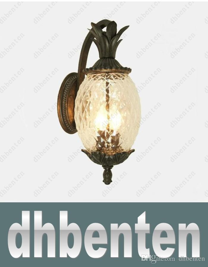 LAI436 European Style Outdoor Modern Wall Lamps Pineapple Shape Glass  +Aluminum Garden Wall Lamp Outdoor Lighting Use E27 Bulbs