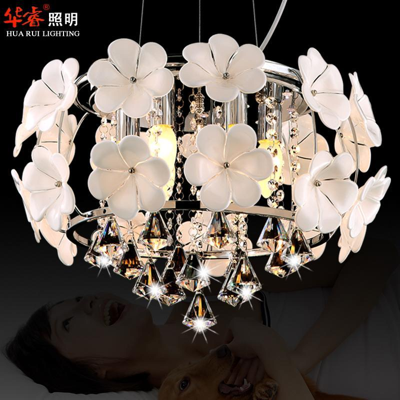 Discount Hot Sale Handmade Glass Flower Chandelier Light Pendant Lamp Crystal Dining Room Lighting Fashion Hanging Lamps For Indoor Modern