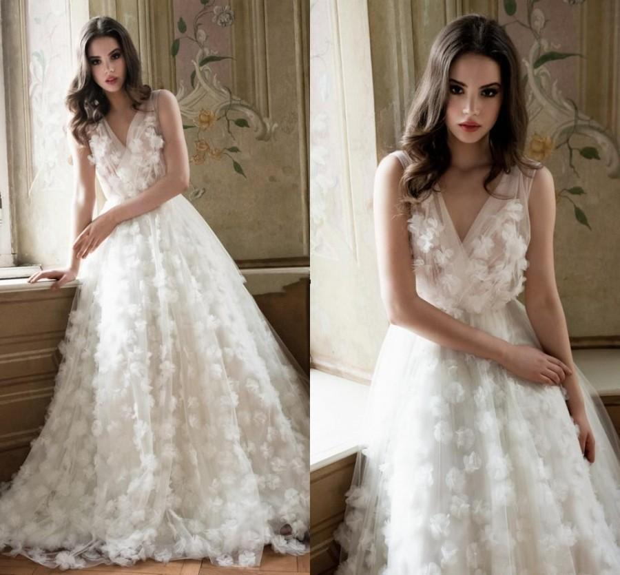 elie saab wedding dress elie saab wedding dresses 2015 v neck a line 3880