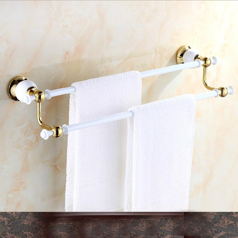 2018 Wholesale And Retail Solid Brass White Painting Towel Rack ...