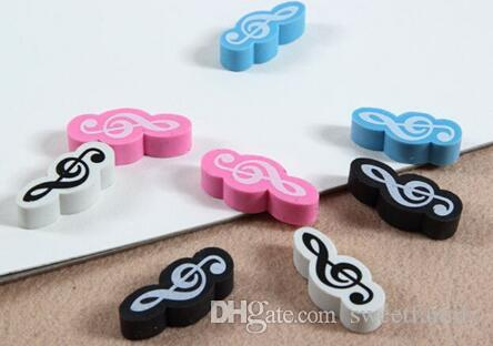 200 New Fashion Music Style Stationery Mini Style Music Eraser Music Gift