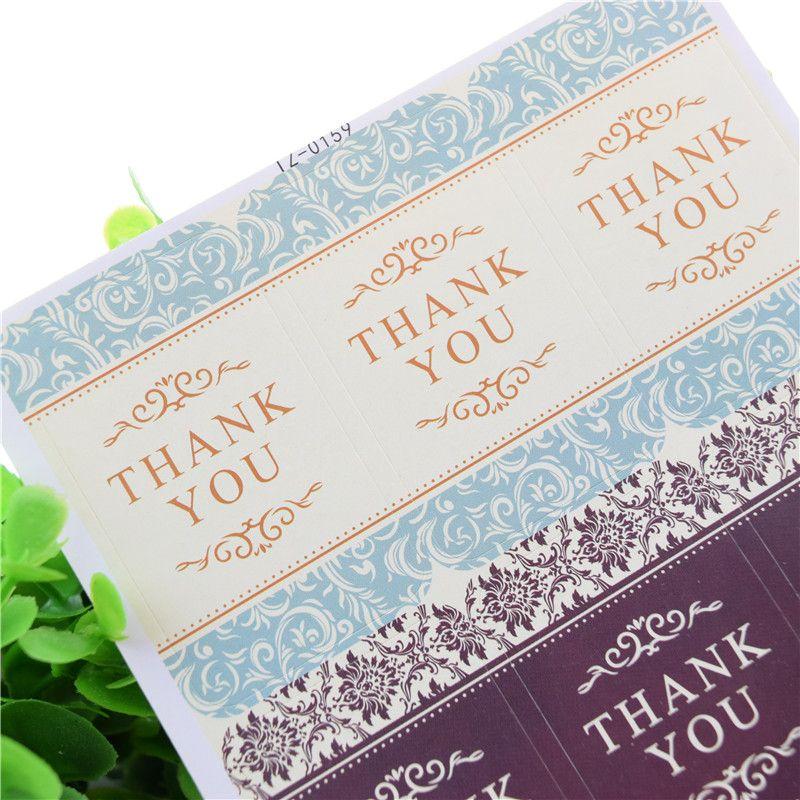 Thanks You Seal Stickers Rabbit Bear Handmade DIY Seal Sticker Scrapbooking Envelopes packaging Label Cake Wrapping Baking Party Xmas