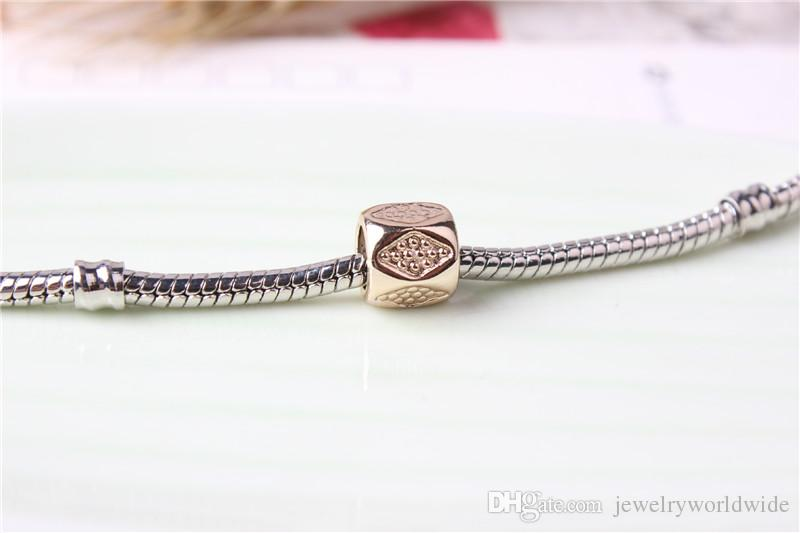 Replacement Alloy Charm Bead Gold Plated Fashion Women Jewelry Stunning Design European Style For Pandora Bracelet Necklace