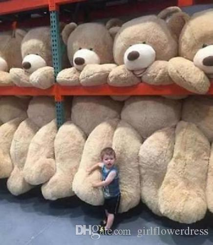 809ec70f454 2019 260CM SUPER HUGE TEDDY BEAR ONLY COVER PLUSH TOY SHELL WITH ZIPPER 102  From Girlflowerdress