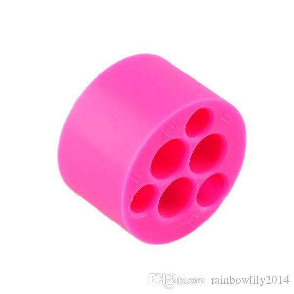 Silicone Stand eGo Holder 6 Holes 4 Holes for E Cigarette Silicone Base Holder for eGo-t Q vv Battery E Cig Sucker Mixed Colors Available