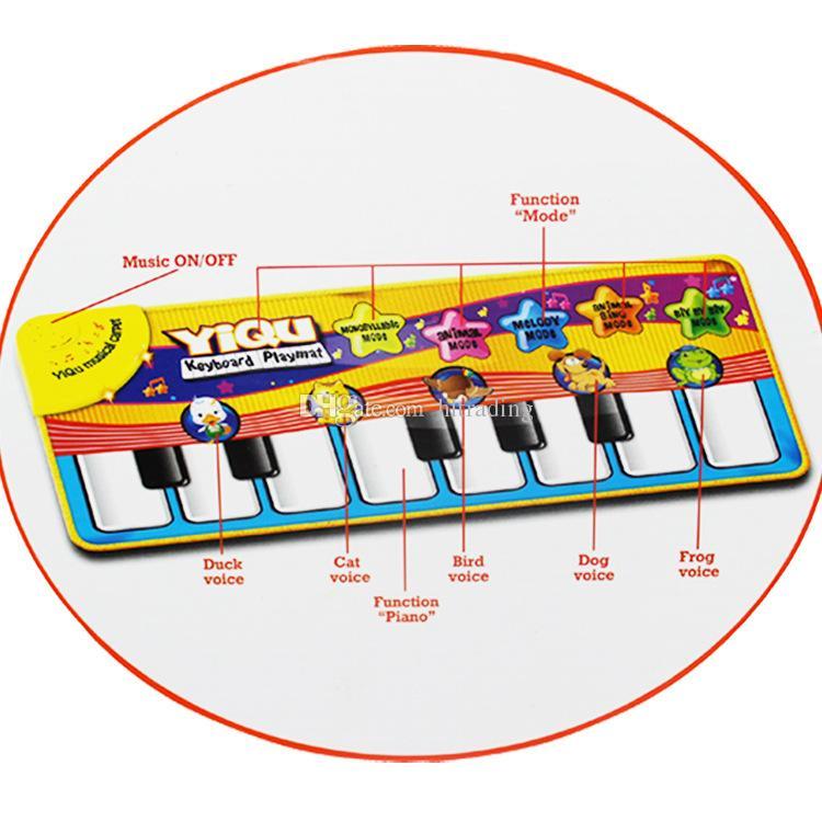 Multifuncional Jogo Do Bebê Rastejando Tapete Tipo de Toque de Música de Piano Eletrônico Jogo Tapetes Sons de Animais Canta Brinquedos para Caçoa o Presente C3163