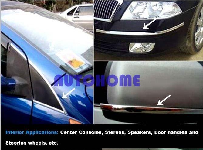5 X 3M Chrome Trim Strip Car Interior Door Mould Molding Dec Universal  Adhesive Sticker order<$18no track