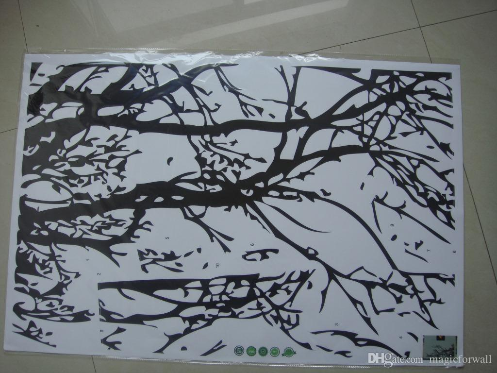 Hot Sale Black Tree Top Branch Wall Decal Stickers Removable DIY Branch Art Mural Poster 60 x 140CM