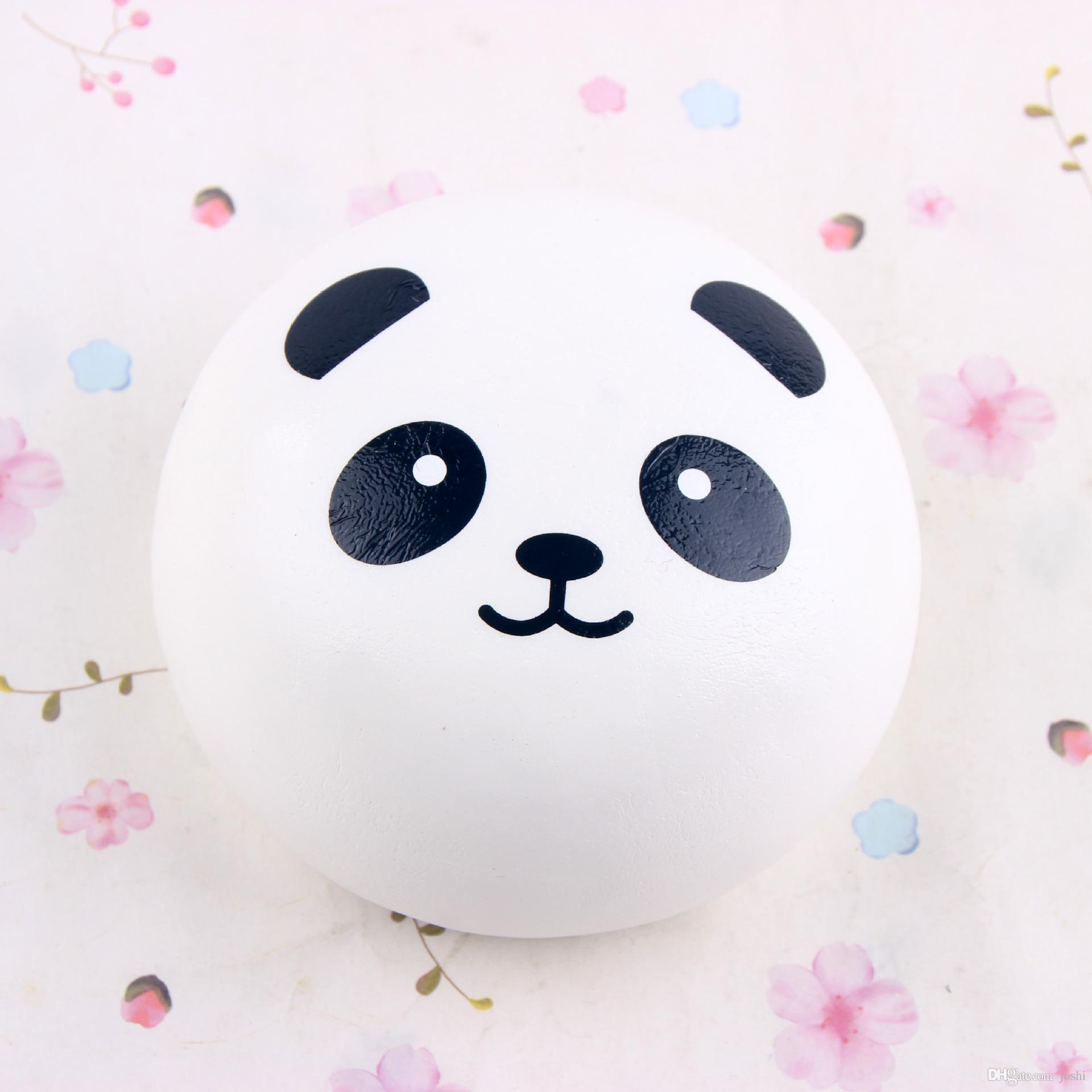 2018 10cm Cute Panda Squishy Buns Bread Charms Kawaii Soft Scented Pu Jumbo Slow Rising Squeeze Phone Charm Squishies Pendant From Joshi