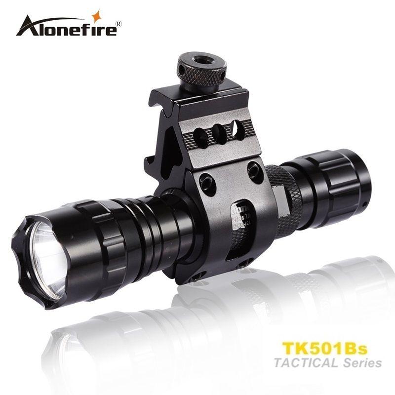 501B Tactical Flashlight led Hunting Torch Spotlight Shotgun lighting +Tactical scope mount+Remote switch