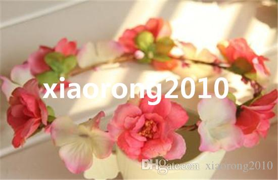 Artificial Rose Camellia Peony Bridal Floral Hoop Flower Wreath Garland Hair Accessories Headdress for Wedding Photograph Props