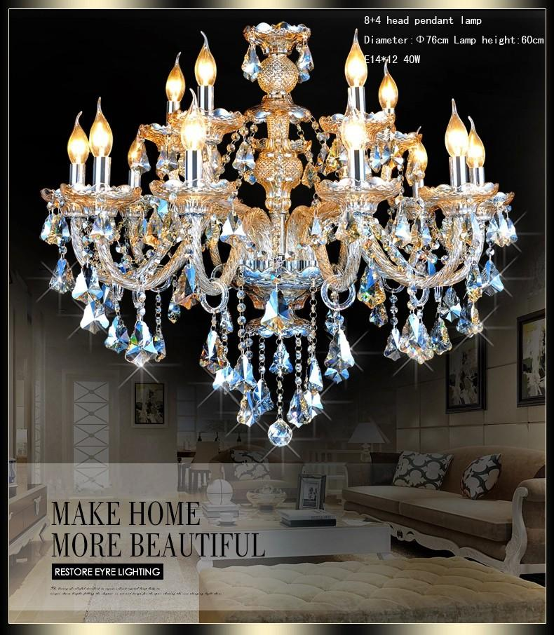 Ceiling Crystal Chandelier Led European Candle Chandeliers Wrought Iron High Quality Seashell