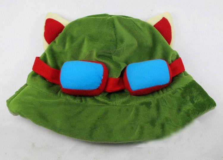 League of Legends Cosplay Cap Hut Teemo Hut Plüsch Baumwolle LOL Plüsch Spielzeug Hüte