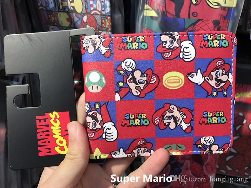 Super Mario World Wallet Cute Cartoon Comics Purse Student Short Game Wallet Credit Card Holder Anime Purse