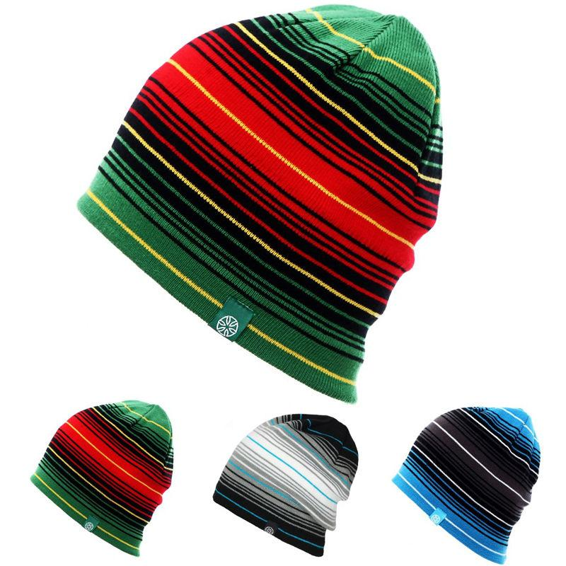 Unisex Men Women Skiing Hats Warm Winter Knitting Skating Skull Cap Hat  Beanies Turtleneck Caps Striped Ski Cap Snowboard Beanie Cap Watch Cap From  ... 27bc16814de