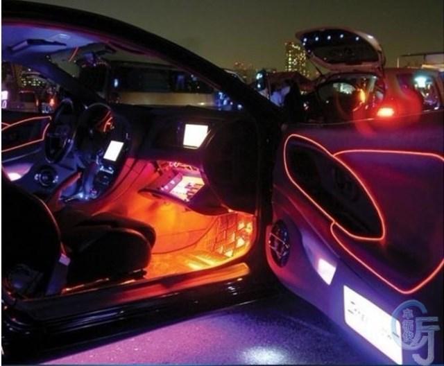Car Flexible Neon Light 3m El Wire Electroluminescent Neon Wire ...