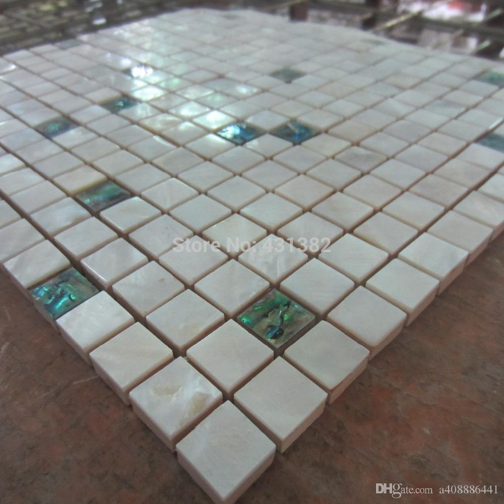 green mosaic bathroom tiles of pearl tiles green white shell tile mixed 18579