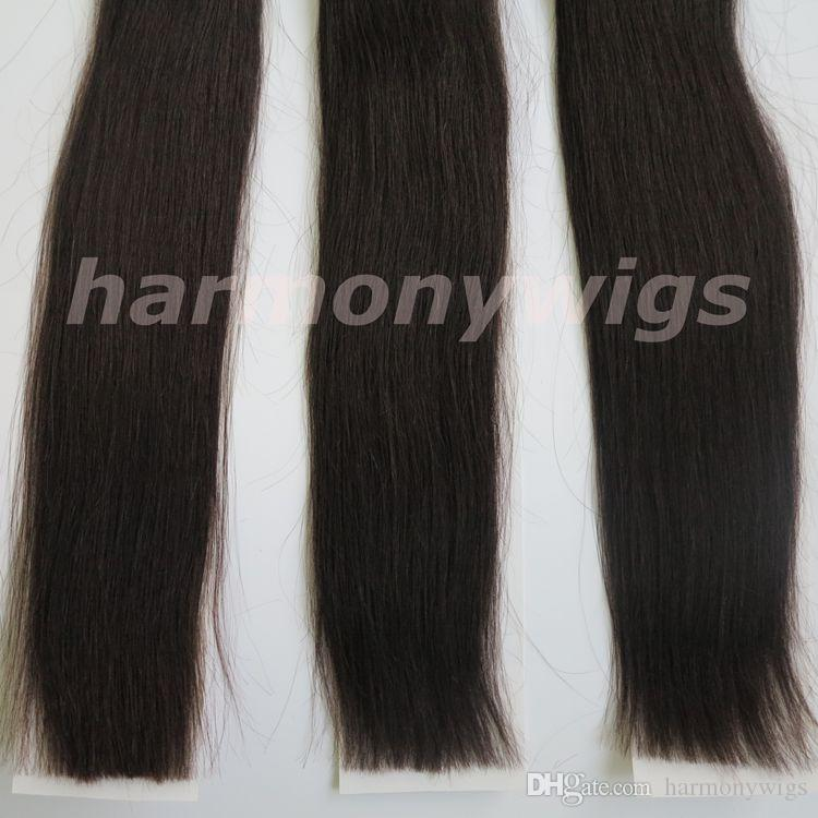 100% human hair weft Brazilian hair weaves 100g 20inch #1B/Off Black Straight hair bundles Indian hair Extensions free comb