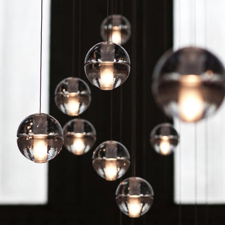 2017 New Bocci G4 Led Crystal Glass Ball Pendant Lamp Meteor Rain Ceiling Light Meteoric Shower Stair Bubble Droplight 3 5 7 26 Etc Lights Traditional