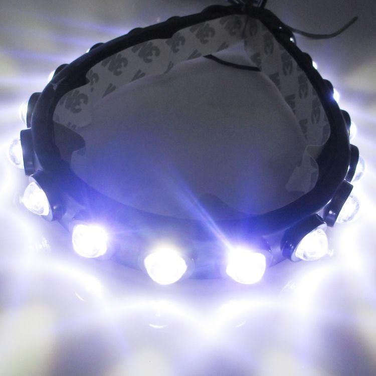 8 светодиодов универсальная автомобильная света DRL дневного головная лампа супер белый