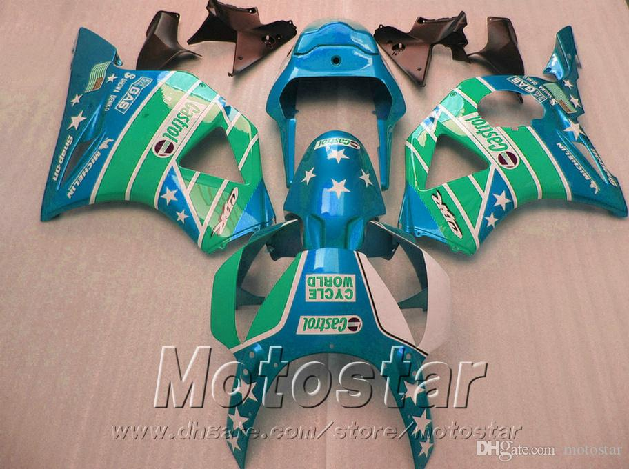 7 Free gifts + fairing kit for Honda Injection molding cbr900rr 954 2002 2003 CBR 900RR green black fairings CBR954 02 03 YR81