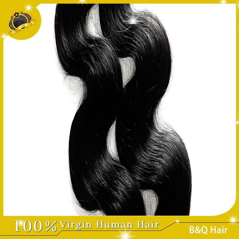 Envio Grátis!! Venda por atacado 100 extensões de cabelo humano extensões malaias indianas de cabelo peruano corporal onda pêlos tece