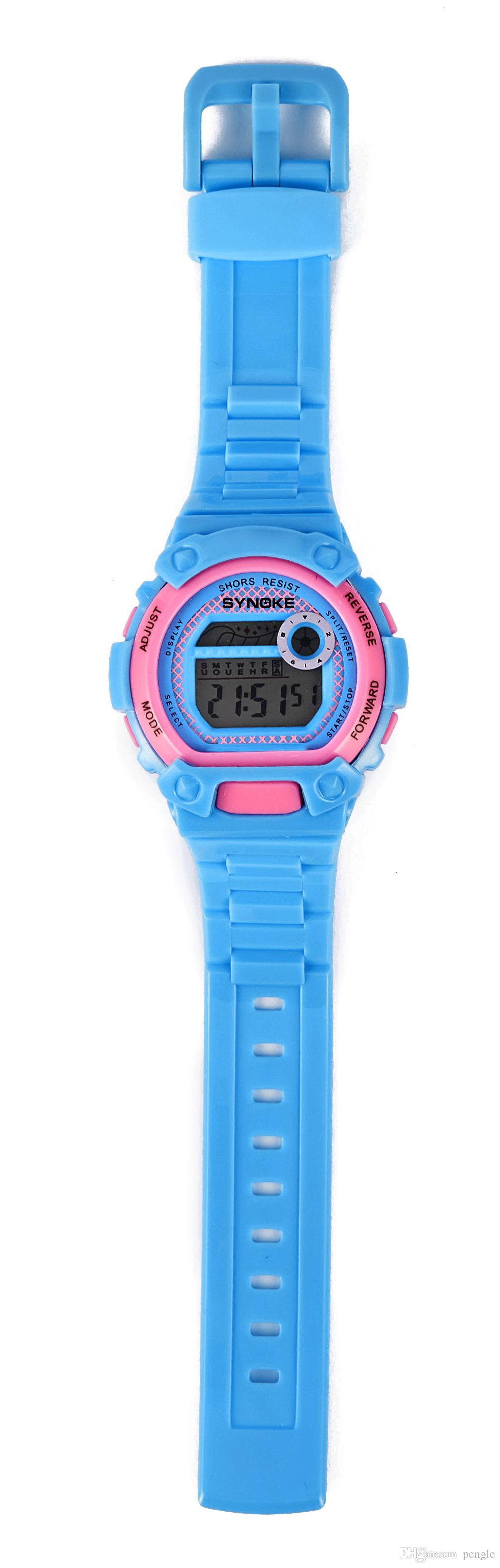 حار بيع الأزياء الحياة للماء سيليكون الرياضة ووتش جولة الطلب الصمام الساعات الرقمية للأطفال هدية