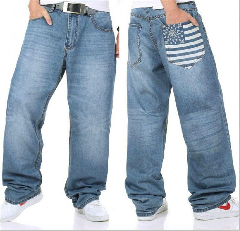 Online Cheap New Mens Baggy Hip Hop Jeans Famous Brand ...
