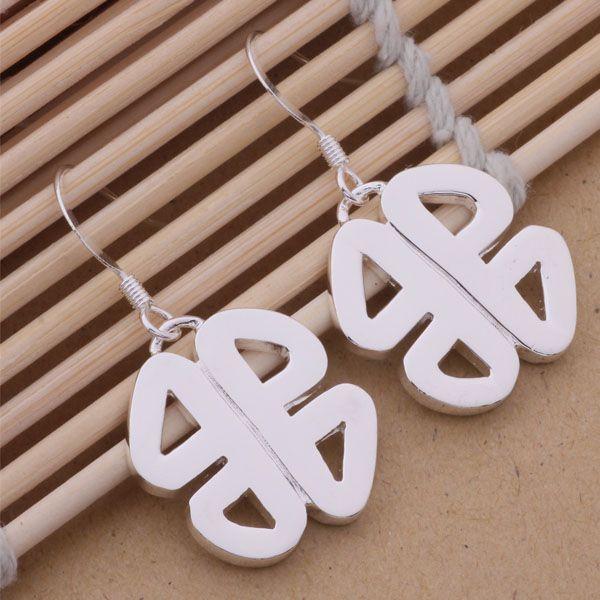 Мода производитель ювелирных изделий 40 шт. много китайский узел серьги стерлингового серебра 925 ювелирные изделия завод мода блеск серьги