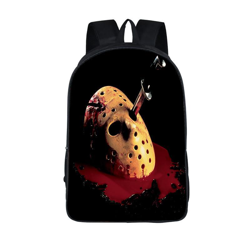 Horrible Nightmare Backpack Chucky Jason Freddy Children School Bags For Teenage Freedy VS Jason School Backpacks Kids Daily Bag